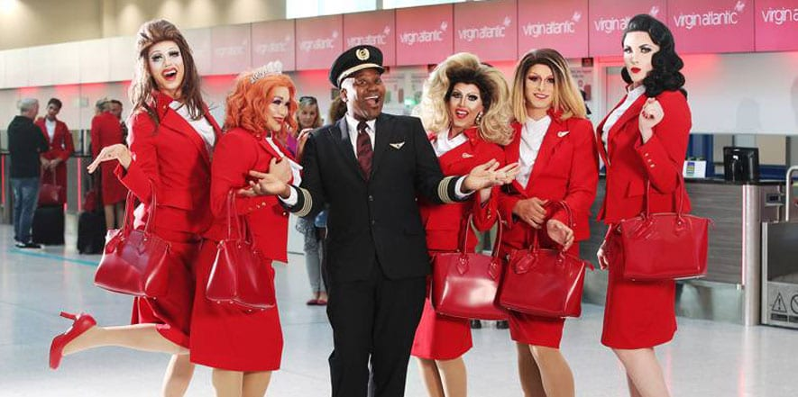 LGTBQ flight attendants Virgin