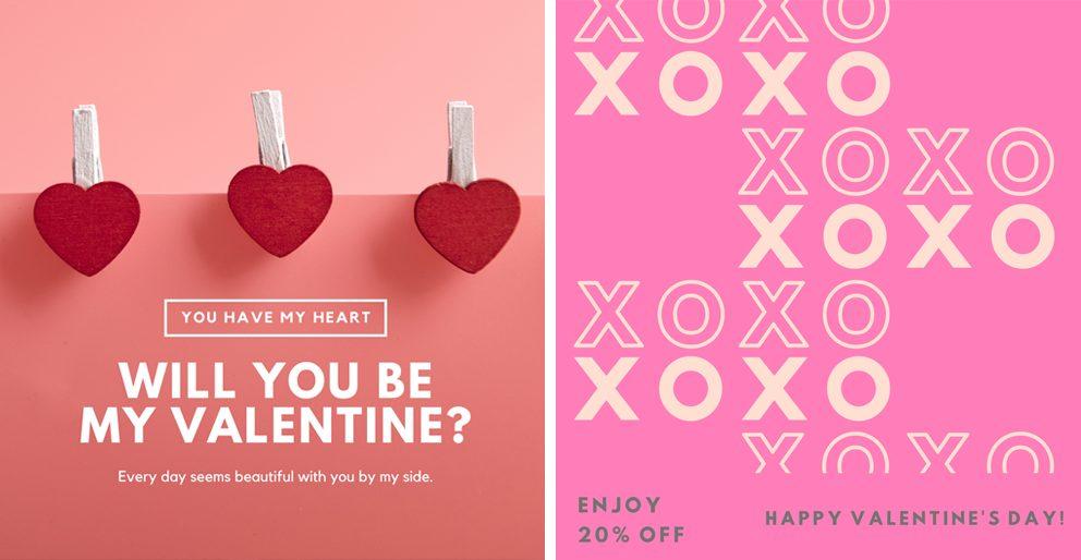 Valentine's Day Social Media post exmaples